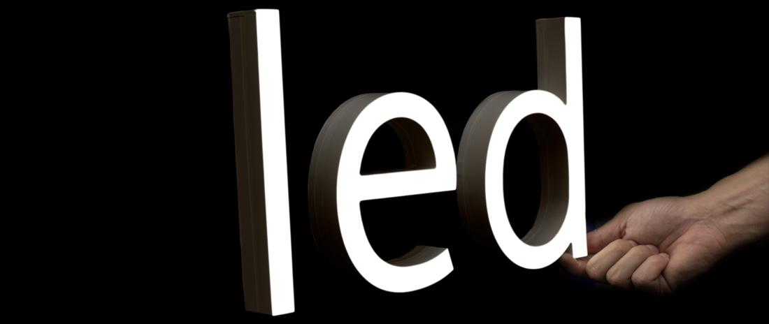 Signage depicting LED technology.